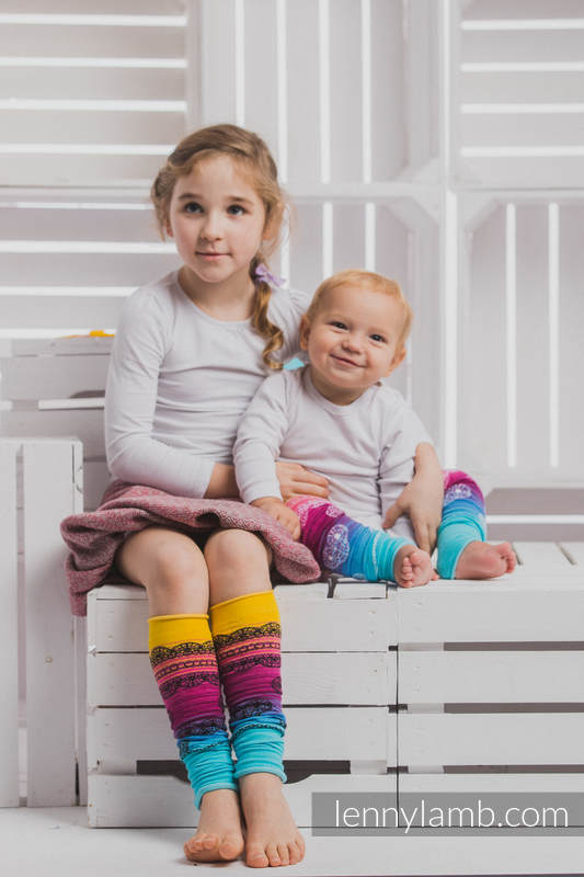 LennyLegs Long - baby leg warmers - RAINBOW LACE DARK (grade B) #babywearing