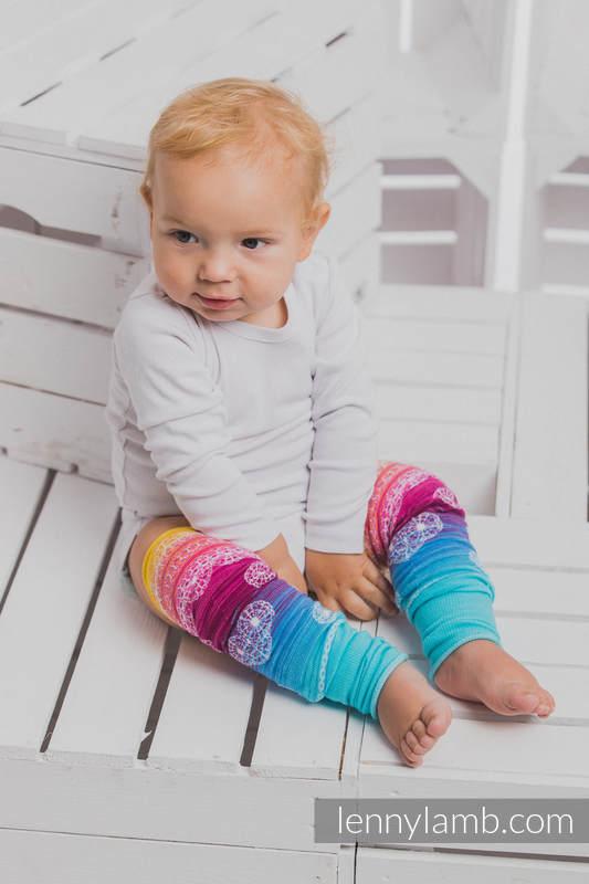 LennyLegs - calentadores para bebé - RAINBOW LACE (grado B) #babywearing