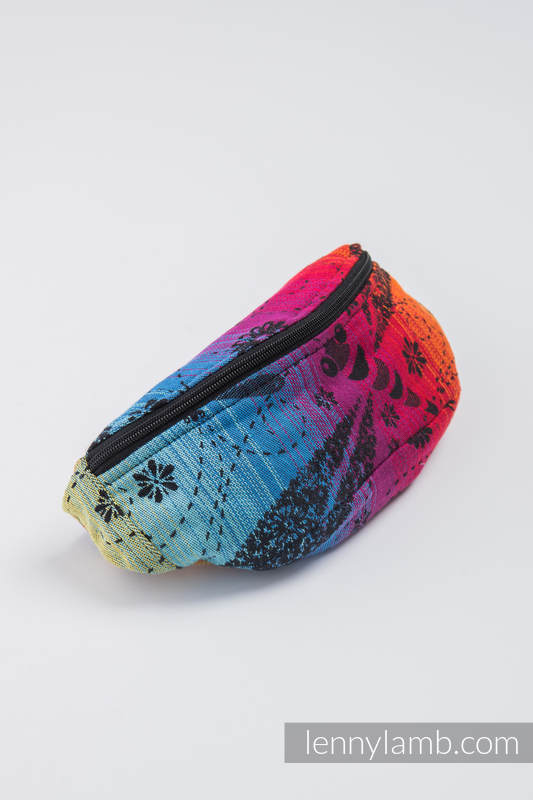 Waist Bag made of woven fabric, (100% cotton) - DRAGONFLY RAINBOW DARK  #babywearing