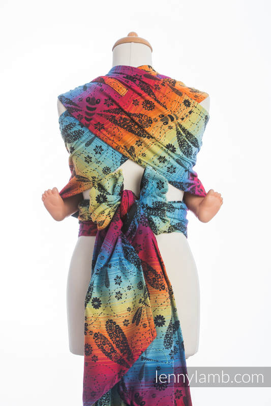 WRAP-TAI carrier Toddler with hood/ jacquard twill / 100% cotton / DRAGONFLY RAINBOW DARK  #babywearing