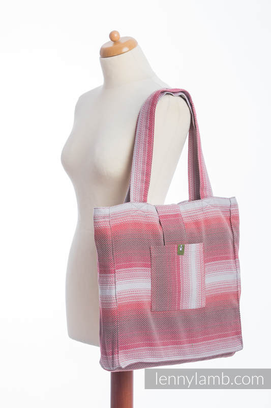 Shoulder bag made of wrap fabric (100% cotton) - LITTLE HERRINGBONE ELEGANCE - standard size 37cmx37cm #babywearing