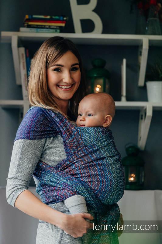 Fular, tejido jacquard (100% algodón) - BIG LOVE SAPPHIRE - talla XL #babywearing