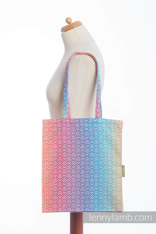 Shopping bag made of wrap fabric (100% cotton) - BIG LOVE - RAINBOW  #babywearing