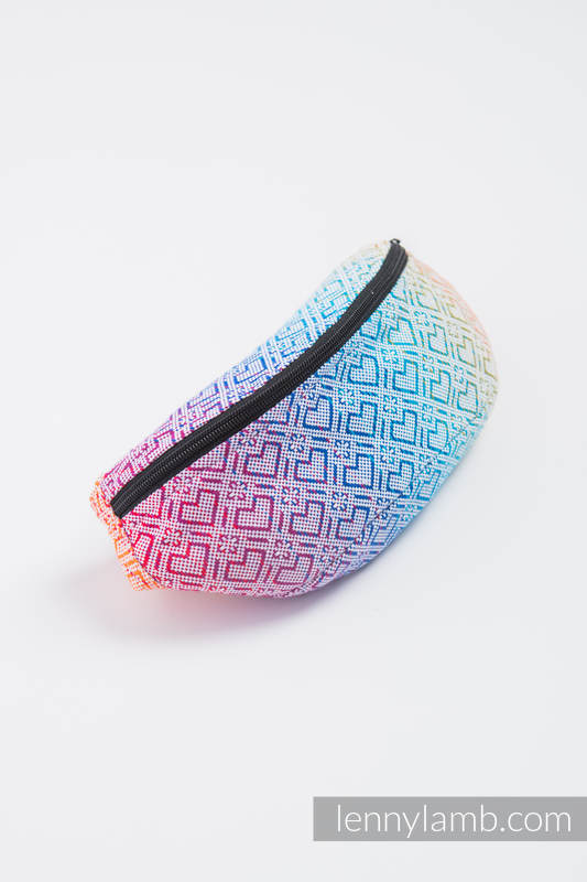Waist Bag made of woven fabric, (100% cotton) - BIG LOVE - RAINBOW #babywearing