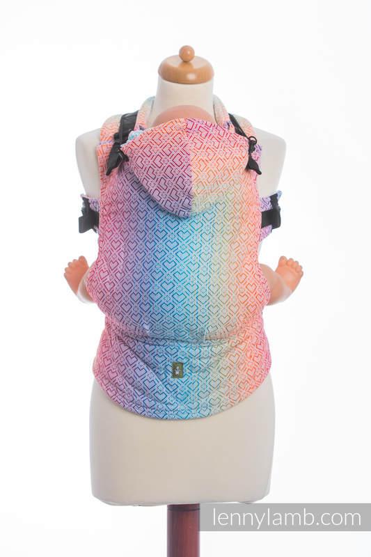 Ergonomische Tragehilfe, Größe Toddler, Jacquardwebung, 100% Baumwolle - BIG LOVE - RAINBOW - Zweite Generation #babywearing