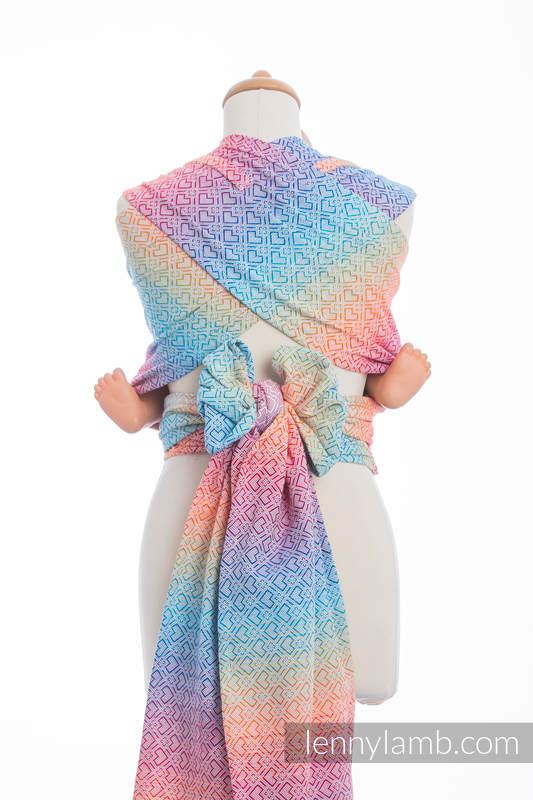 WRAP-TAI carrier Mini with hood/ jacquard twill / 100% cotton / BIG LOVE - RAINBOW #babywearing