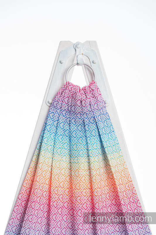 Ringsling, Jacquard Weave (100% cotton) - BIG LOVE RAINBOW - standard 1.8m #babywearing