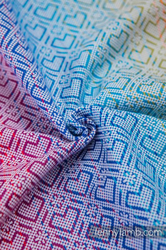 Fular, tejido jacquard (100% algodón) - BIG LOVE RAINBOW - talla S #babywearing