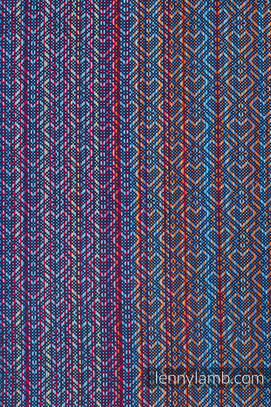 Bolsa de la compra hecho de tejido de fular (100% algodón) - BIG LOVE SAPPHIRE  #babywearing