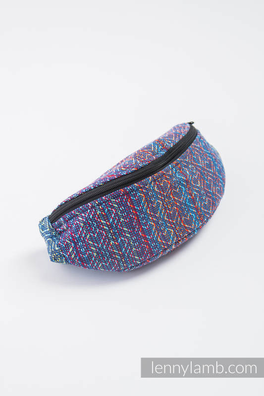 Waist Bag made of woven fabric, (100% cotton) - BIG LOVE - SAPPHIRE  #babywearing