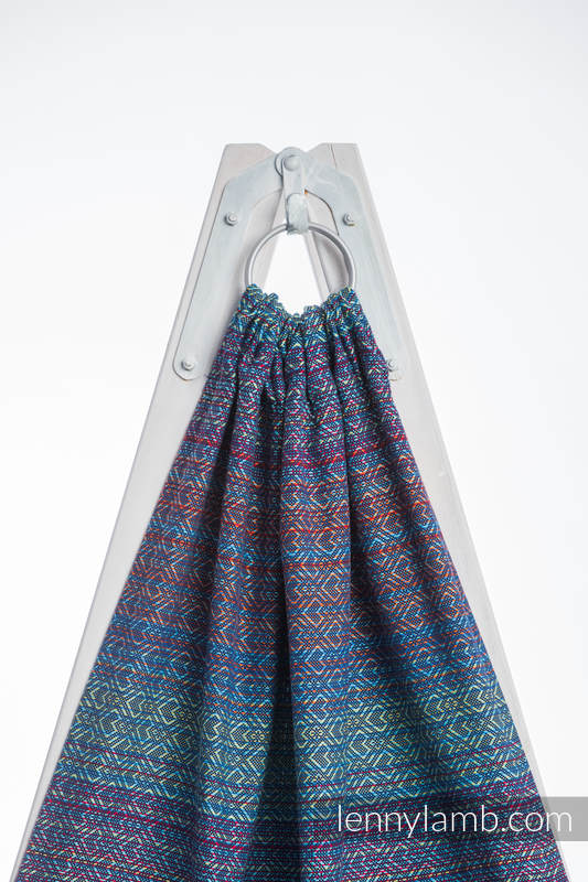 Ringsling, Jacquard Weave (100% cotton), with gathered shoulder - BIG LOVE SAPPHIRE - standard 1.8m #babywearing