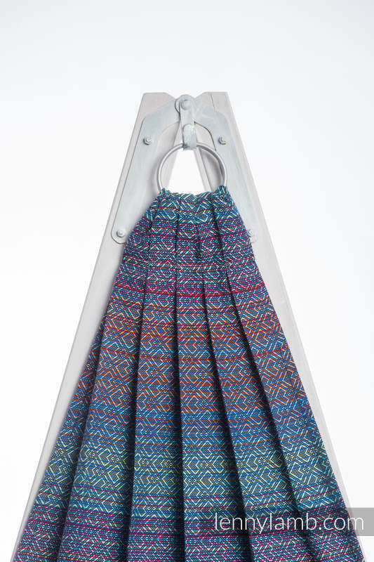 Chusta kółkowa, splot żakardowy, (100% bawełna) - BIG LOVE SZAFIR - standard 1.8m #babywearing