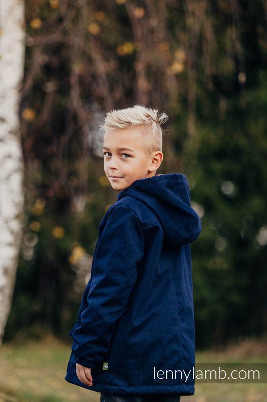 a20565a8d Parka Coat for Kids - size 116 - Navy Blue   Diamond Plaid