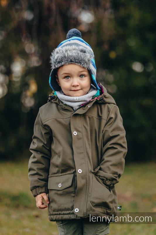 c11f2f1e8 Parka Coat for Kids - size 116 - Khaki   Diamond Plaid