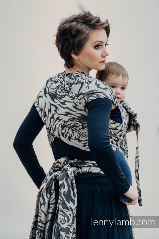 WRAP-TAI carrier Toddler with hood/ jacquard twill / 100% cotton / TIGER BLACK & BEIGE 2.0 #babywearing
