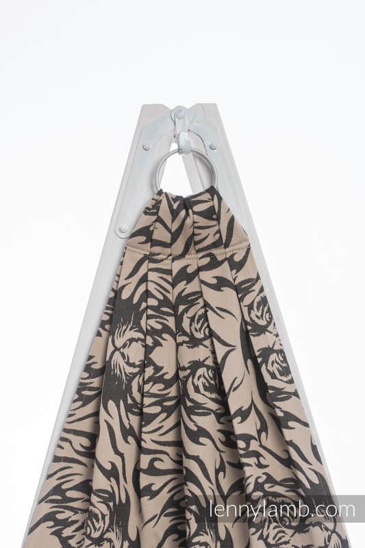 Ringsling, Jacquard Weave (100% cotton) - TIGER BLACK & BEIGE 2.0 - long 2.1m #babywearing