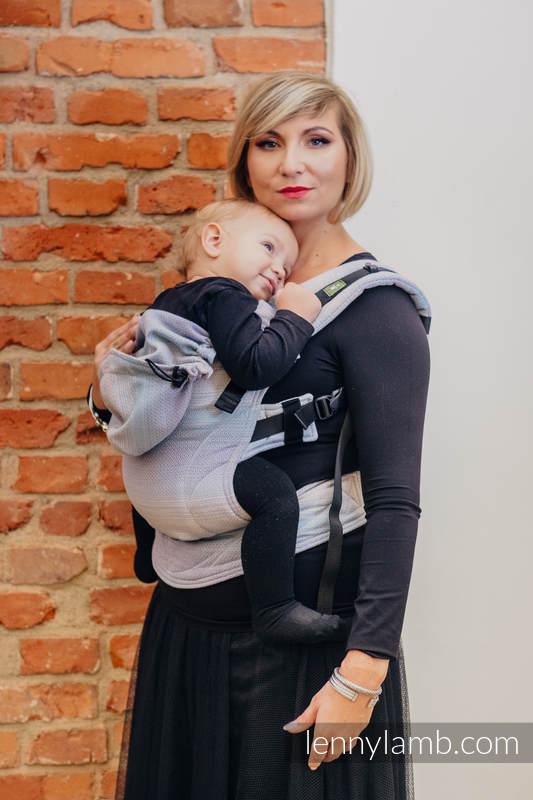 Ergonomic Carrier, Toddler Size, diamond weave 100% cotton - wrap conversion from DIAMOND ILLUSION LIGHT - Second Generation. #babywearing