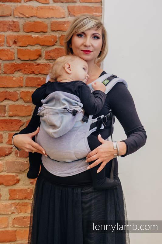 Ergonomic Carrier, Baby Size, diamond weave 100% cotton - wrap conversion from DIAMOND ILLUSION LIGHT - Second Generation #babywearing