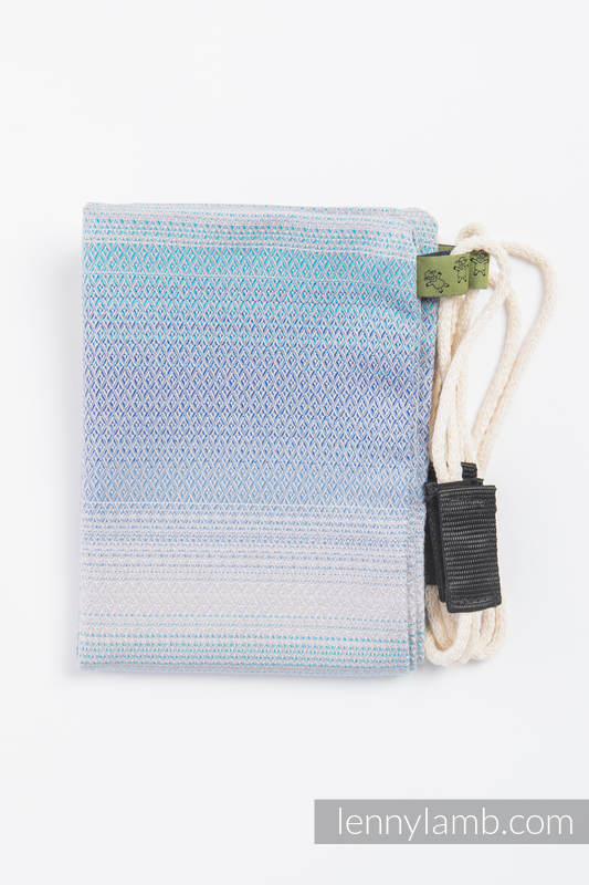 Sackpack made of wrap fabric (100% cotton) - DIAMOND ILLUSION LIGHT- standard size 32cmx43cm #babywearing