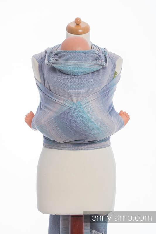 WRAP-TAI carrier Mini, diamond weave - 100% cotton - with hood, DIAMOND ILLUSION LIGHT #babywearing