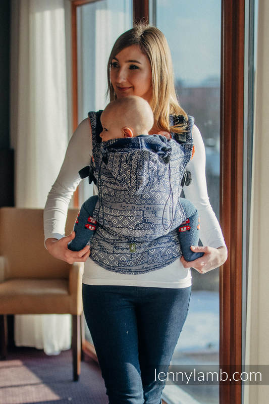 Ergonomic Carrier, Baby Size, jacquard weave 100% cotton - FOR PROFESSIONAL USE EDITION - ENIGMA 2.0, Second Generation #babywearing