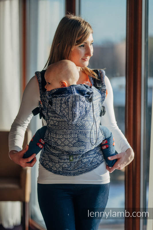 Ergonomic Carrier, Toddler Size, jacquard weave 100% cotton - FOR PROFESSIONAL USE EDITION - ENIGMA 2.0, Second Generation #babywearing