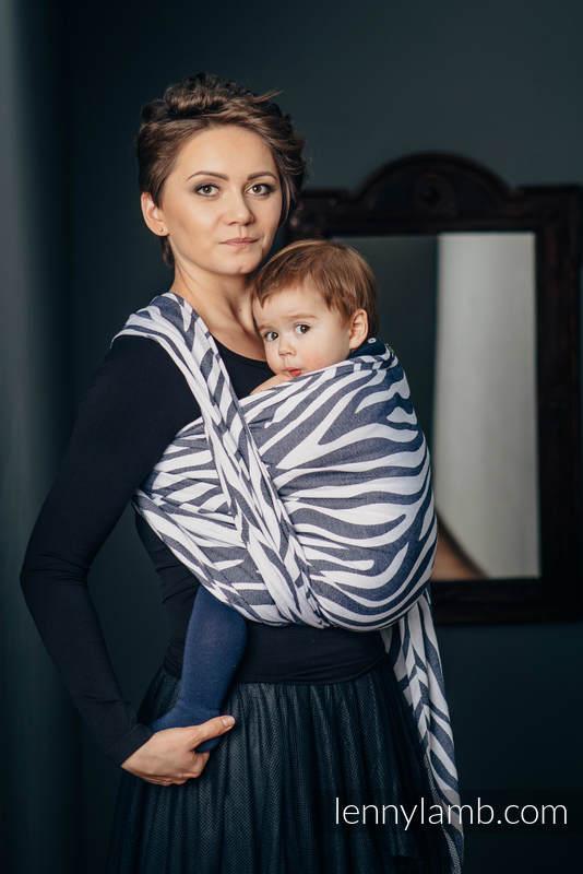 Baby Wrap, Jacquard Weave (100% cotton) - ZEBRA GRAPHITE & WHITE - size S #babywearing