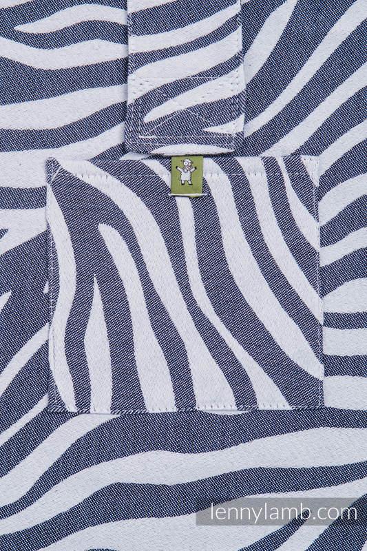 Torba na ramię z materiału chustowego, (100% bawełna) - ZEBRA GRAFIT Z BIELĄ - uniwersalny rozmiar 37cmx37cm #babywearing