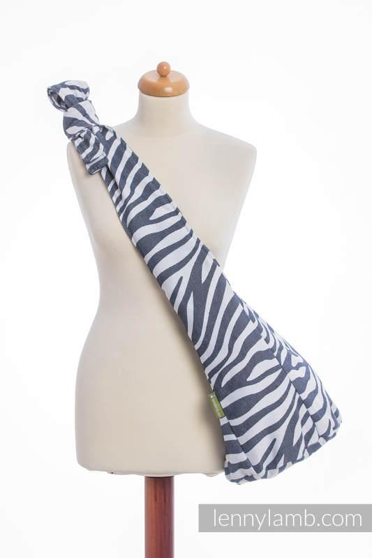 Hobo Bag made of woven fabric, 100% cotton - ZEBRA GRAPHITE & WHITE #babywearing