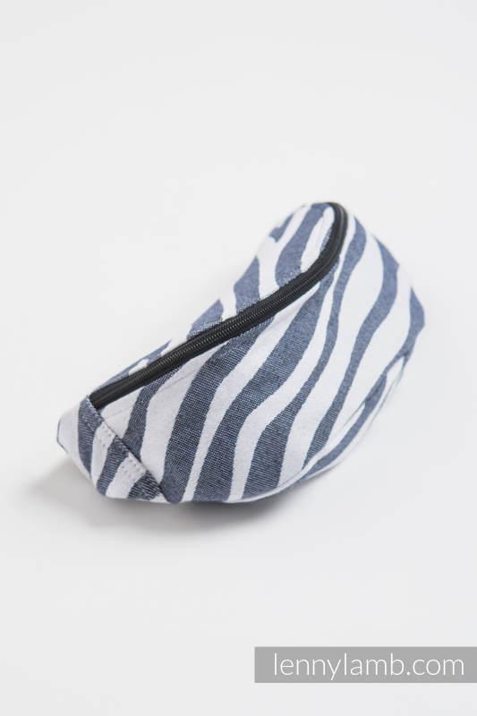Waist Bag made of woven fabric, (100% cotton) - ZEBRA GRAPHITE & WHITE #babywearing