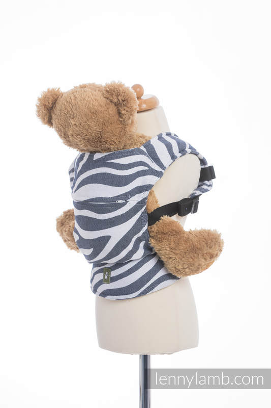 Doll Carrier made of woven fabric, 100% cotton - ZEBRA GRAPHITE & WHITE #babywearing