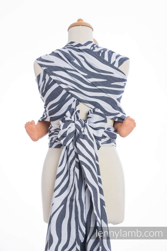 WRAP-TAI carrier Mini with hood/ jacquard twill / 100% cotton / ZEBRA GRAPHITE & WHITE (grade B) #babywearing