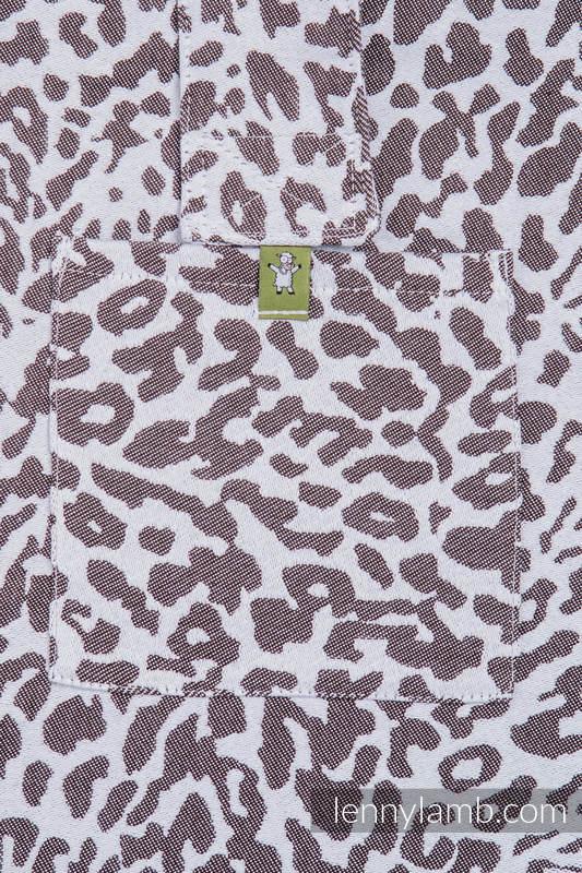 Torba na ramię z materiału chustowego, (100% bawełna) - GEPARD CIEMNY BRĄZ Z BIAŁYM - uniwersalny rozmiar 37cmx37cm #babywearing