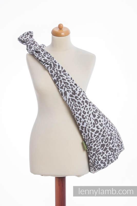 Torba Hobo z materiału chustowego, (100% bawełna) - GEPARD CIEMNY BRĄZ Z BIAŁYM #babywearing