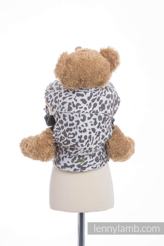 Doll Carrier made of woven fabric, 100% cotton - CHEETAH DARK BROWN & WHITE (grade B) #babywearing