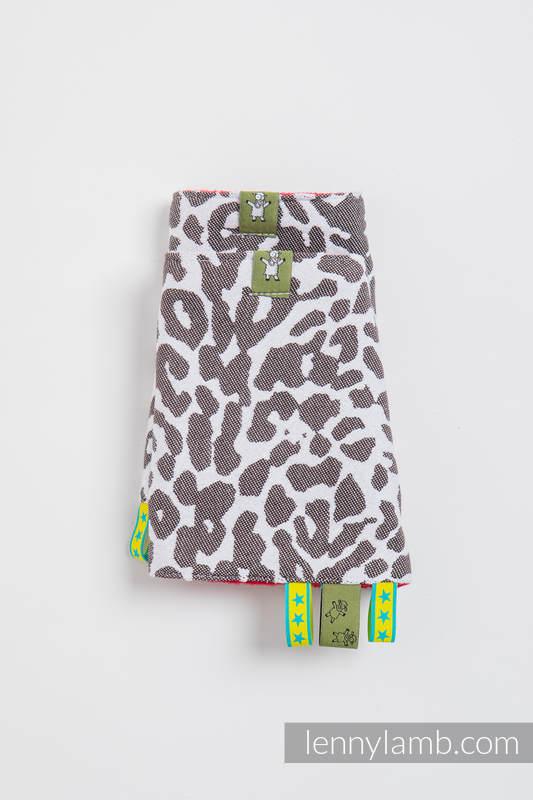 Drool Pads & Reach Straps Set, (60% cotton, 40% polyester) - CHEETAH DARK BROWN & WHITE #babywearing