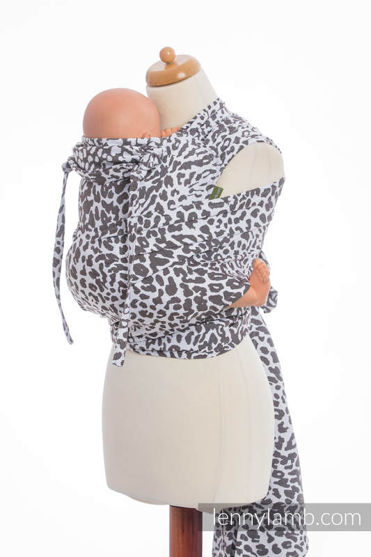 WRAP-TAI carrier Toddler with hood/ jacquard twill / 100% cotton / CHEETAH DARK BROWN & WHITE #babywearing