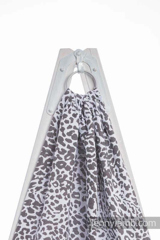Ringsling, Jacquard Weave (100% cotton) - with gathered shoulder - CHEETAH DARK BROWN & WHITE - long 2.1m (grade B) #babywearing