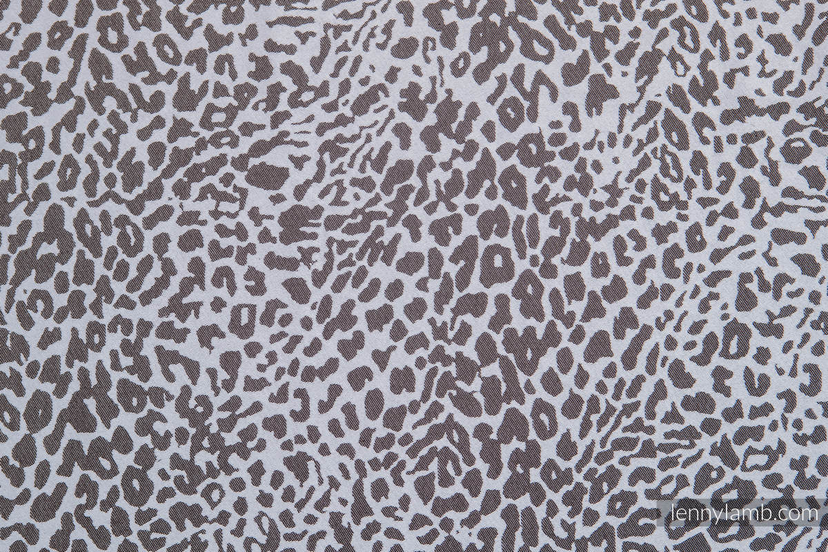 Baby Wrap, Jacquard Weave (100% cotton) - CHEETAH DARK BROWN & WHITE - size XL #babywearing