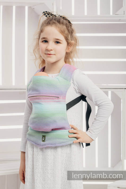 Doll Carrier made of woven fabric (100% cotton) - LITTLE HERRINGBONE IMPRESSION #babywearing