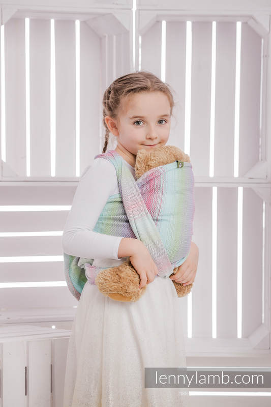 Doll Sling, Herringbone Weave, 100% cotton - LITTLE HERRINGBONE IMPRESSION #babywearing