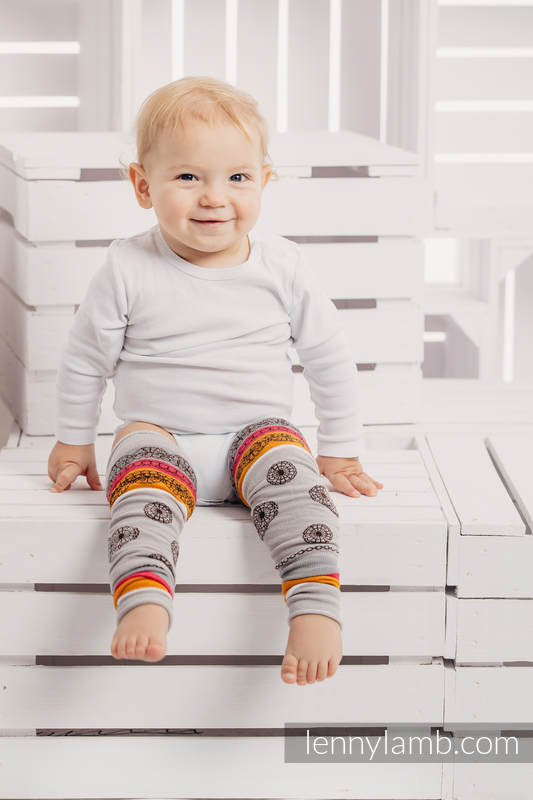 LennyLegs Largos - calentadores para bebé - COFFEE LACE #babywearing