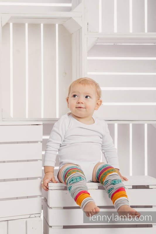 LennyLegs Long - Kinderstulpen - MINT LACE (grad B) #babywearing
