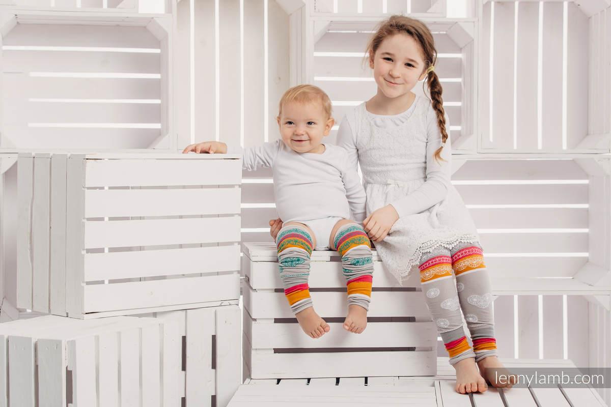 LennyLegs Long  - geterki dziecięce - WANILIOWA KORONKA #babywearing