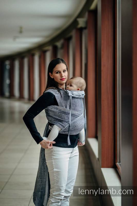 WRAP-TAI carrier Toddler with hood/ jacquard twill / 100% cotton / DENIM BLUE #babywearing