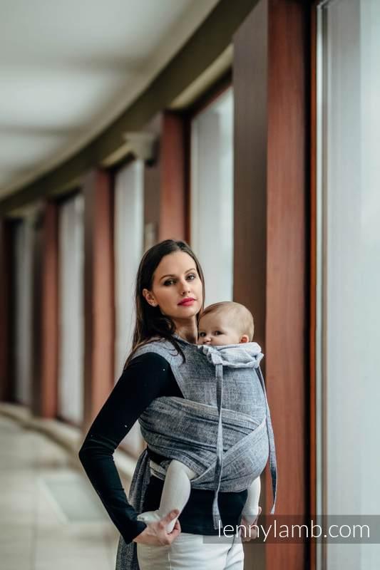 WRAP-TAI carrier Mini with hood/ jacquard twill / 100% cotton / DENIM BLUE #babywearing