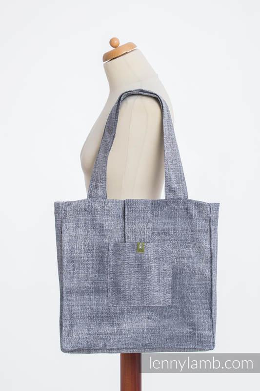Shoulder bag made of wrap fabric (100% cotton) - DENIM BLUE - standard size 37cmx37cm #babywearing