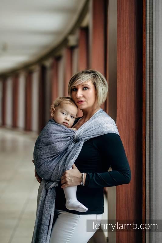 Baby Wrap, Jacquard Weave (100% cotton) - DENIM BLUE - size XL #babywearing