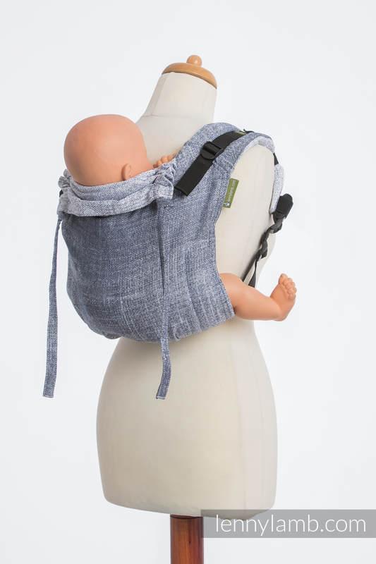 Onbuhimo SAD LennyLamb, talla estándar, jacquard (100% algodón) - DENIM BLUE #babywearing