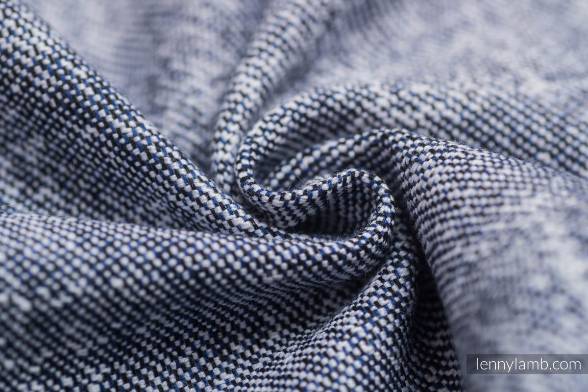 Baby Wrap, Jacquard Weave (100% cotton) - DENIM BLUE - size S #babywearing